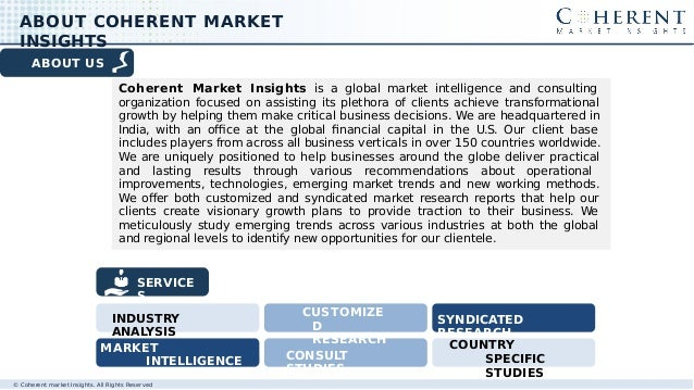 ABOUT US Coherent Market Insights is a global market intelligence and consulting organization focused on assisting its ple...