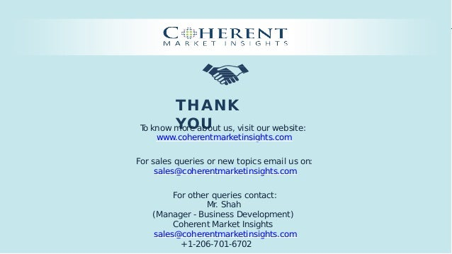 © Coherent market Insights. All Rights Reserved THANK YOUTo know more about us, visit our website: www.coherentmarketinsig...