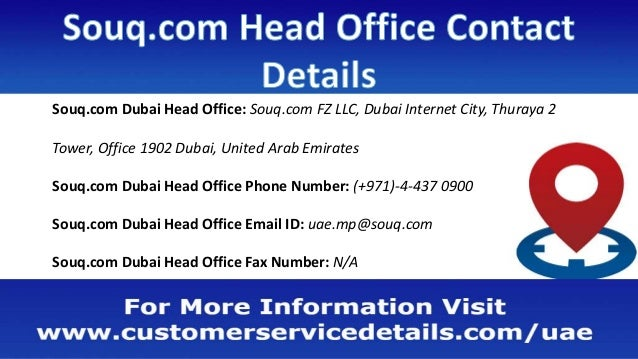 Souq com Customer Care Number, Head Office Address, Email ID