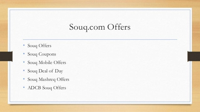 Souq Offers, Souq Coupons, Grab the latest offers