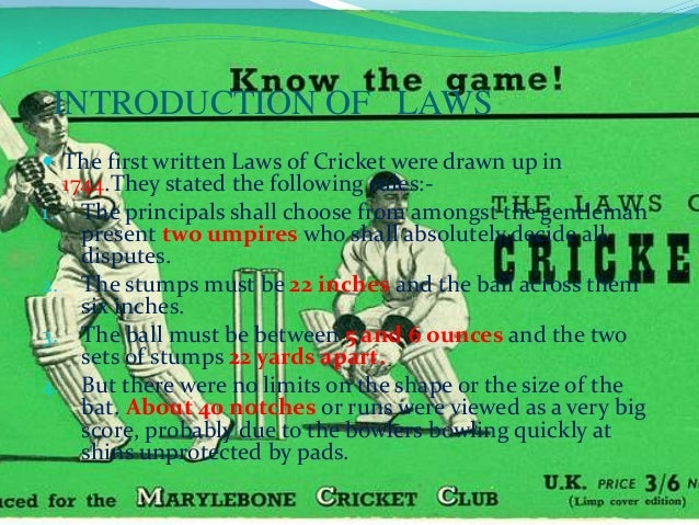 the story of cricket