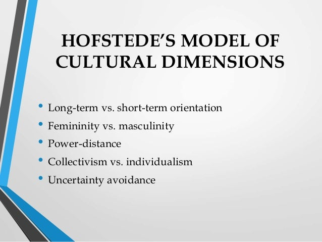 Hofstede organisational culture
