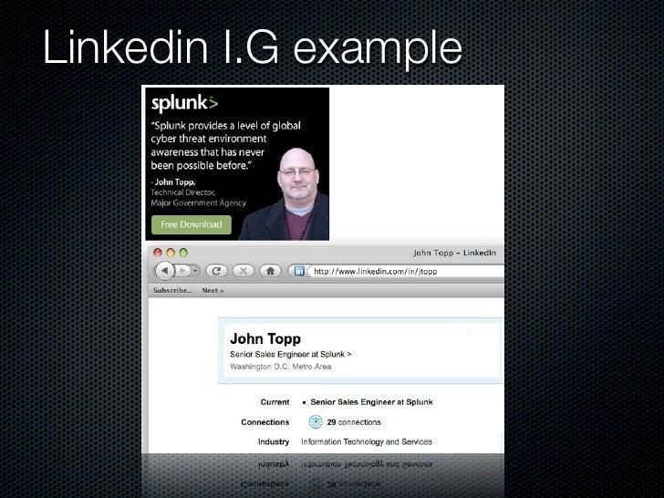Linkedin I.G example