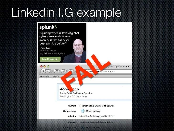 Linkedin I.G example                  I L           FA