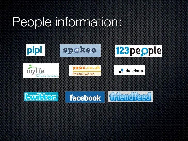 People information: