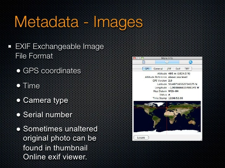 Metadata - EXIF- Harry Pwner          Deathly EXIF?