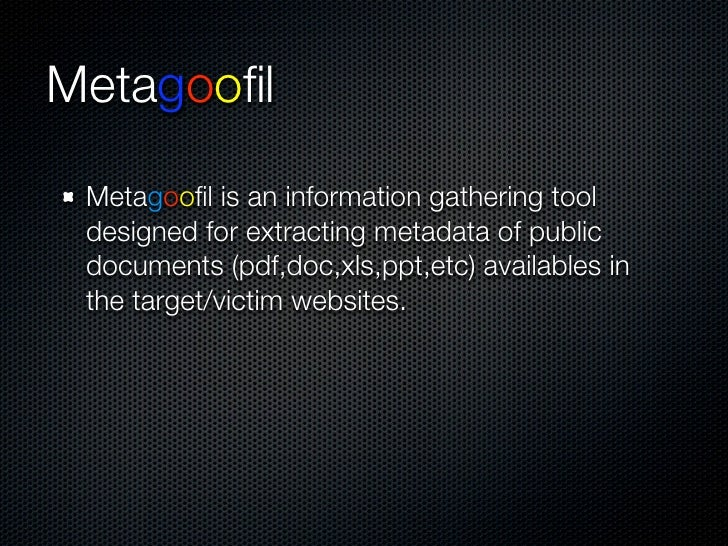 Metagoofil
