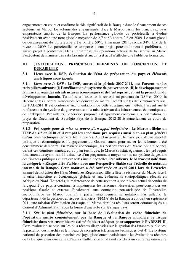 5 engagements en cours et confirme le rôle significatif de la Banque dans le financement de ces secteurs au Maroc. Le volu...