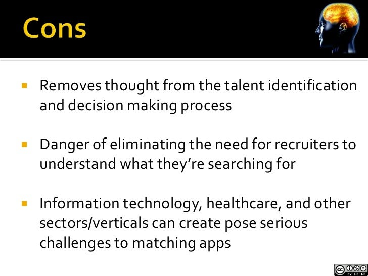    Apps find some people, bury or eliminate    others     Is finding some people good enough for your      organization?...