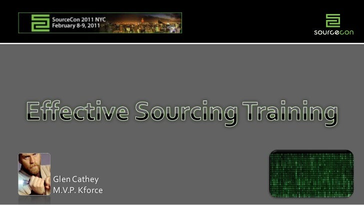 Creating or Selecting Effective Sourcing Training