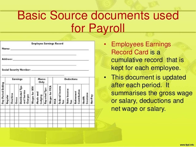 Source documents payroll