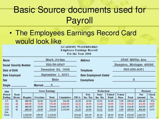 basic source documents used for payroll 9