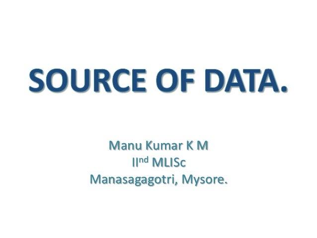 Manu Kumar K MIInd MLIScManasagagotri, Mysore.