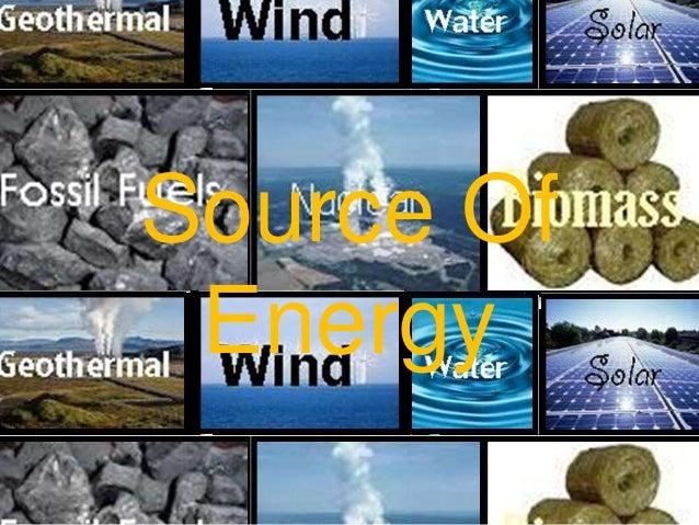 Source Of Energy