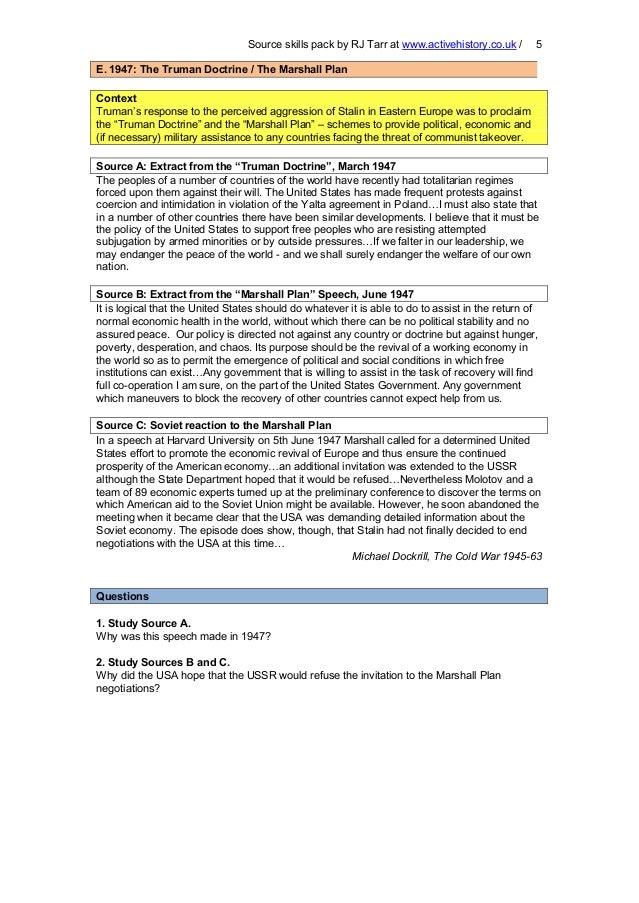 Source pack origins cold war – Origins of the Cold War Worksheet