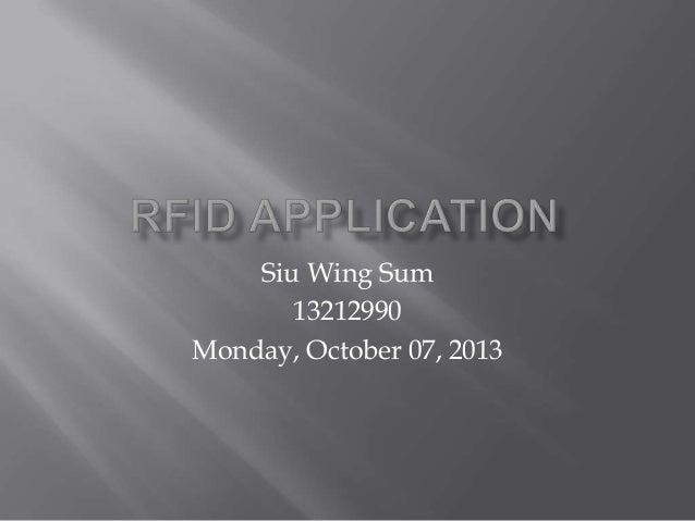 Siu Wing Sum 13212990 Monday, October 07, 2013