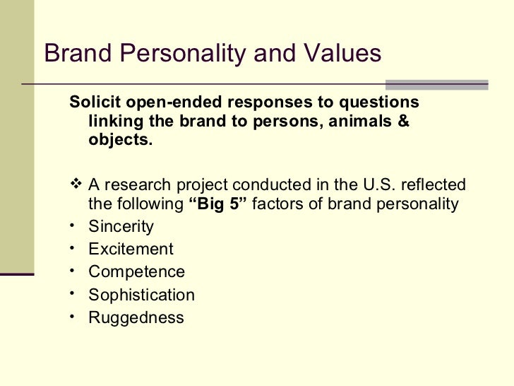 Brand image and sources of equity