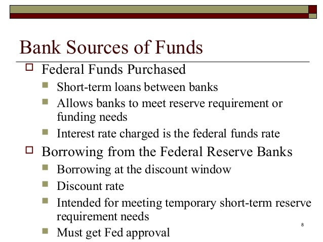 sources of bank funds Electronic funds transfer (eft) 1st source bank (the bank) provides various eft services for its customers eft means a transfer of funds through an electronic terminal, by telephone.