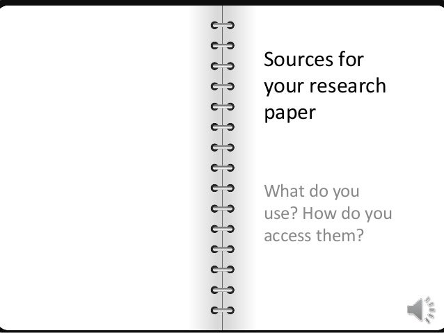 using sources in a research paper