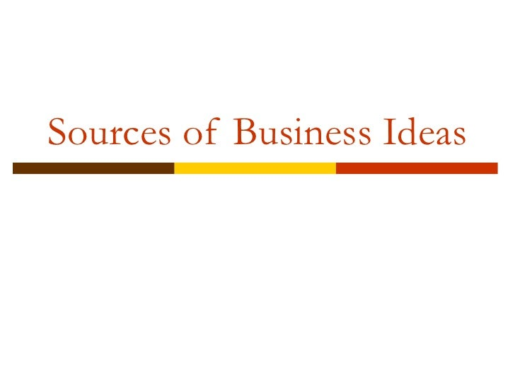 business ideas and opportunities pdf