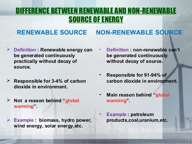Difference between alternative energies ae and