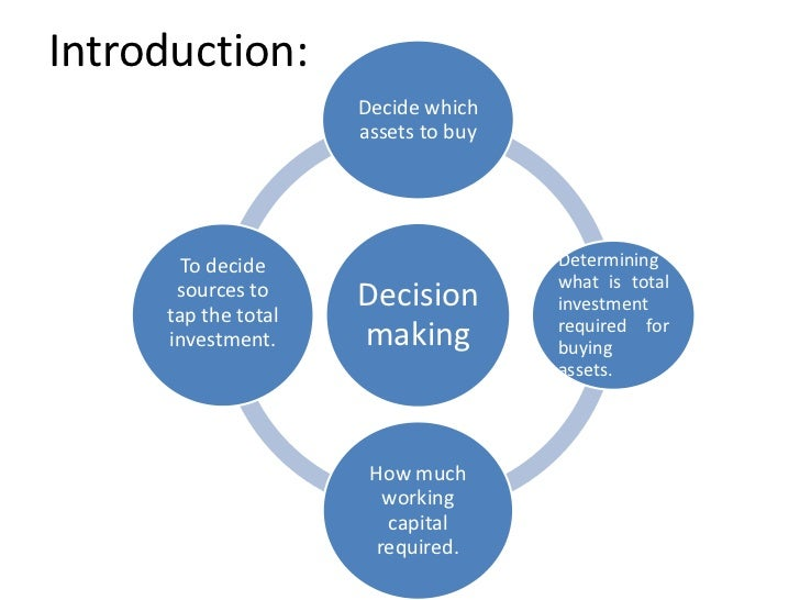 Introduction:                     Decide which                     assets to buy       To decide                     Deter...