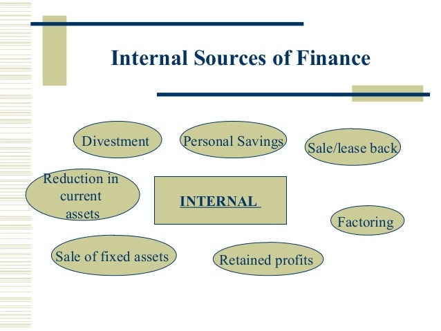 sources of internal and external finance essay Below is an essay on sources of finance from anti essays, your source for research papers, essays, and term paper examples the sources of finance are split into two main groups, internal and external.