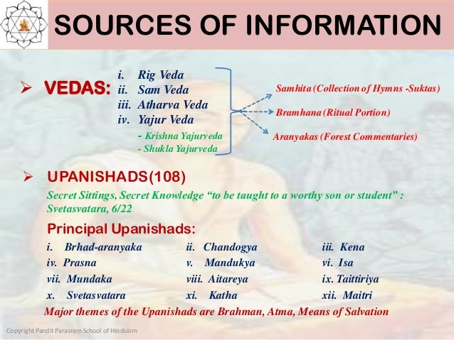 Hinduism:Sources of Information