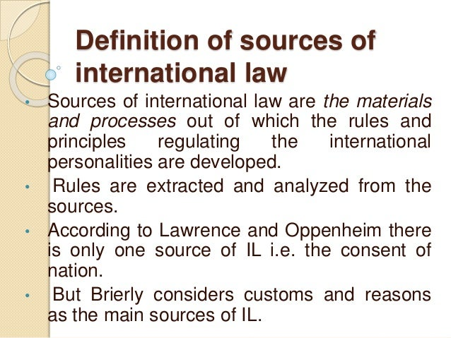 scope of international law essay