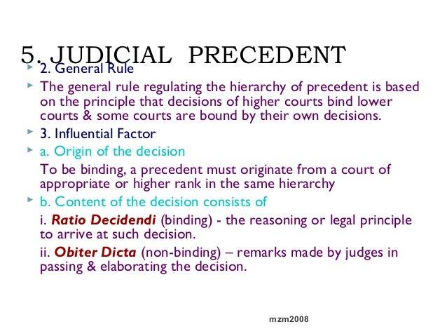 judicial precedent casesnotes essay View essay - judicial precedent essay from year 100 at brickfields asia college does the judicial precedent affect the development of common law judicial precedent is a process whereby the judges.