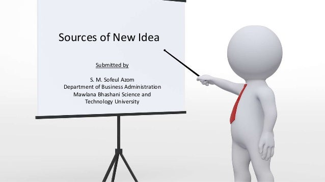 Sources Of New Idea