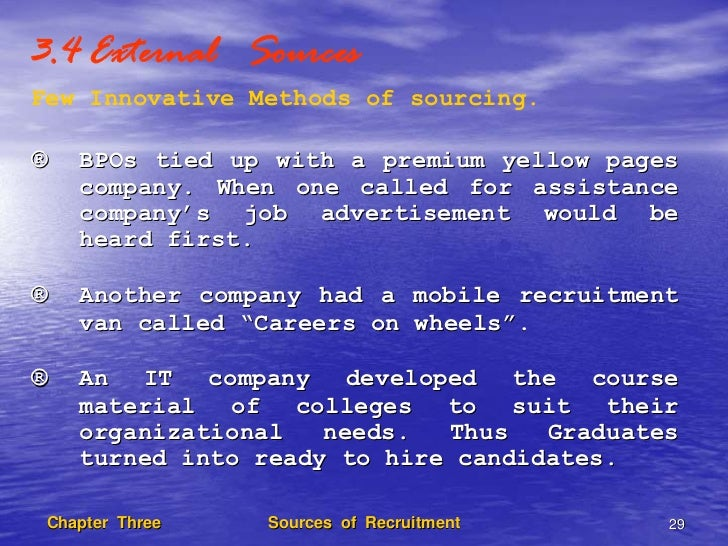 tailoring recruitment methods to source What are the processes for candidate sourcing sourcing in recruitment refers to the identification and uncovering of candidates through proactive recruiting methodologies talent sourcing strategies are formulated to fit a certain industry and targeted profiles so that the best candidates from both active and passive talent pools will be found.