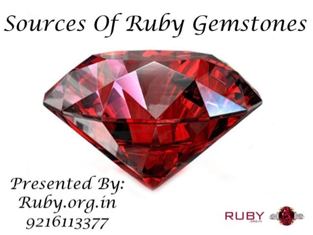 Sources of ruby gemstones
