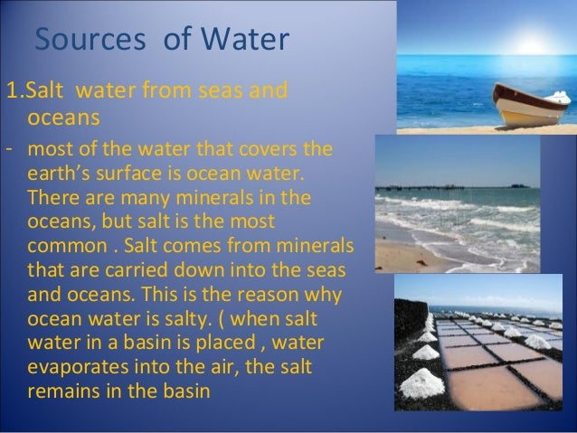 essay on sources of water