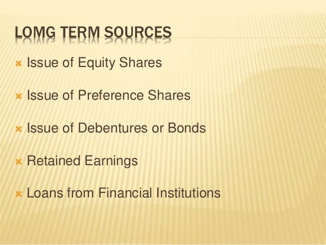 Sources of working capital Slide 2