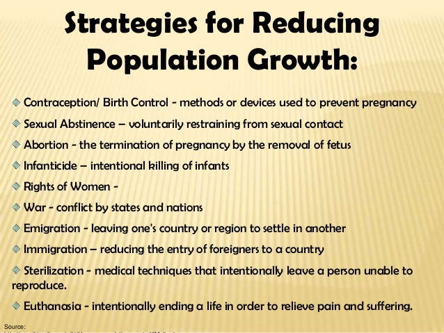 strategies to control population growth
