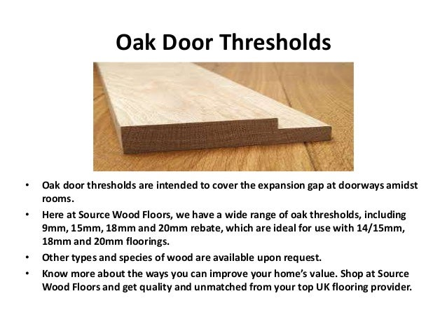 Door Threshold Types Amp Exterior Sc 1 St Conduit Arts