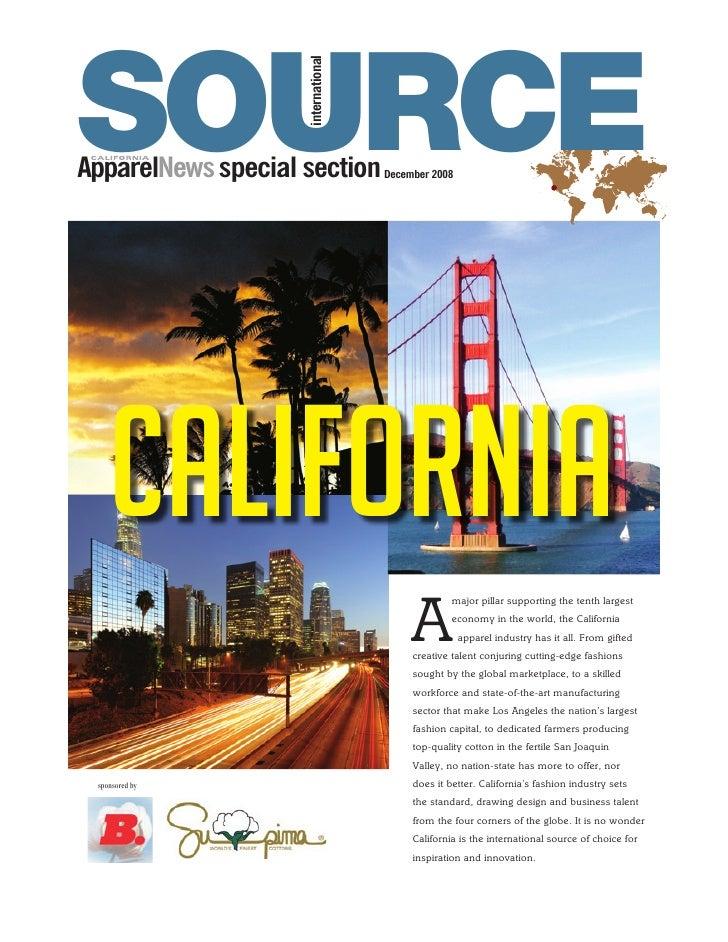 SOURCE                     international ApparelNews special section         December 2008         California             ...