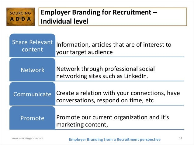 facebook recruitment and employer branding These concepts aren't interchangeable smashfly's tracey parsons shares her perspective on the difference between recruitment marketing & employer branding.