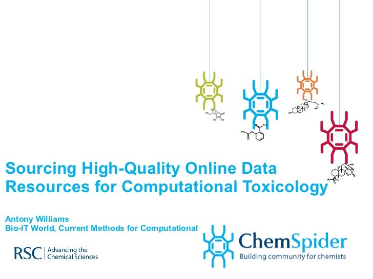 Sourcing High-Quality Online Data Resources for Computational Toxicology Antony Williams Bio-IT World, Current Methods for...