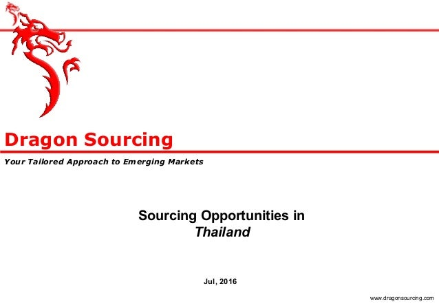 Sourcing Opportunities in Thailand