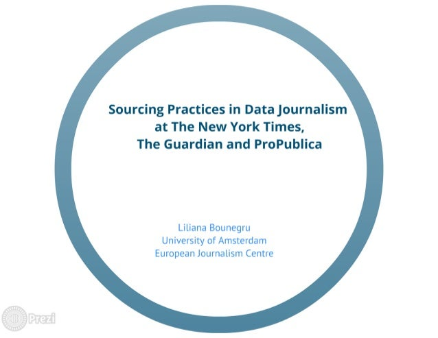 Sourcing Practices in Data Journalism at The New York Times, The Guardian and ProPublica