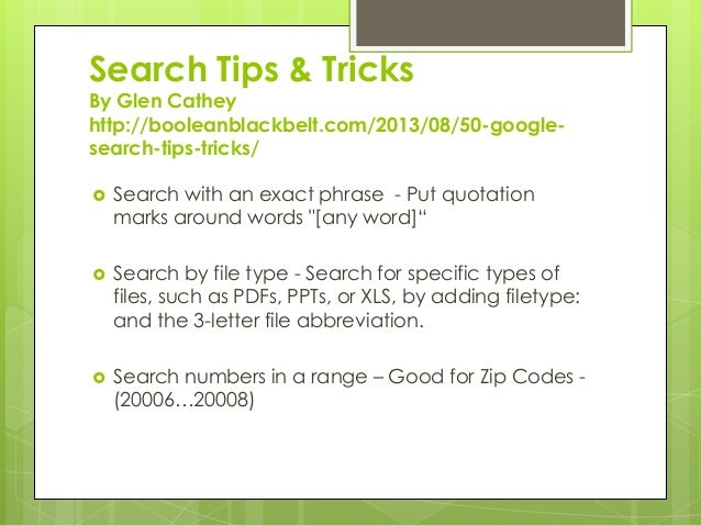 Basic Boolean Search Operators and Query Modifiers ...