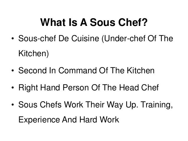 chef muthu new cv. chef de partie kitchen positions and ...
