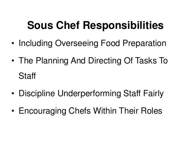 What is a sous chef a job description and definition - Chef de cuisine definition ...