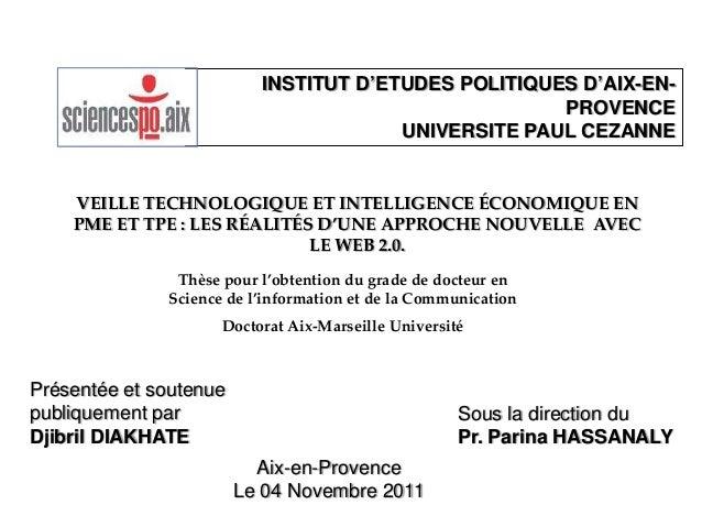 INSTITUT D'ETUDES POLITIQUES D'AIX-EN-                                                     PROVENCE                       ...