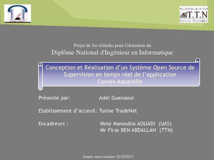 Projet de fin détudes pour lobtention du     Diplôme National dIngénieur en Informatique  Conception et Réalisation d'un S...