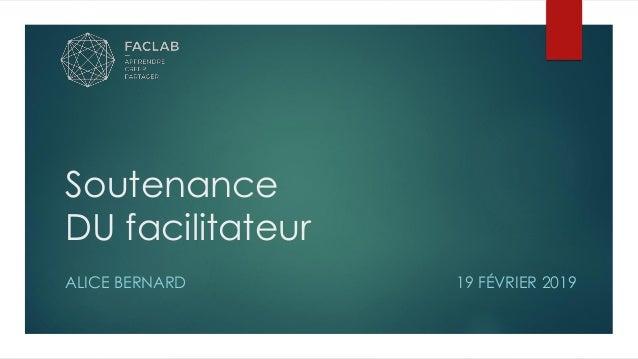 Soutenance DU facilitateur ALICE BERNARD 19 FÉVRIER 2019