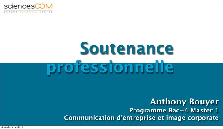 Soutenance                        professionnelle                                                   Anthony Bouyer        ...
