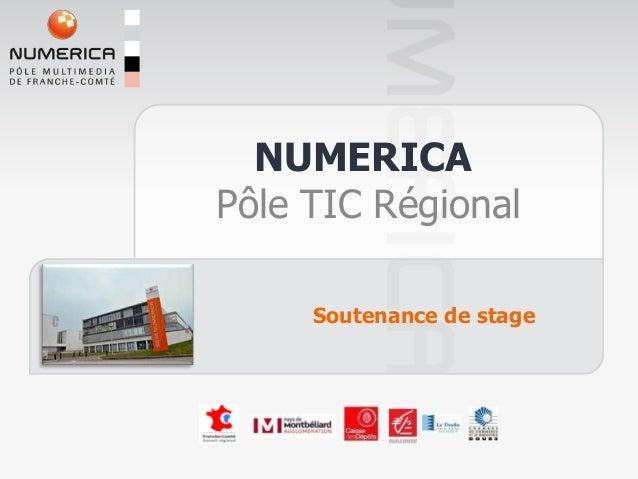 NUMERICAPôle TIC Régional     Soutenance de stage